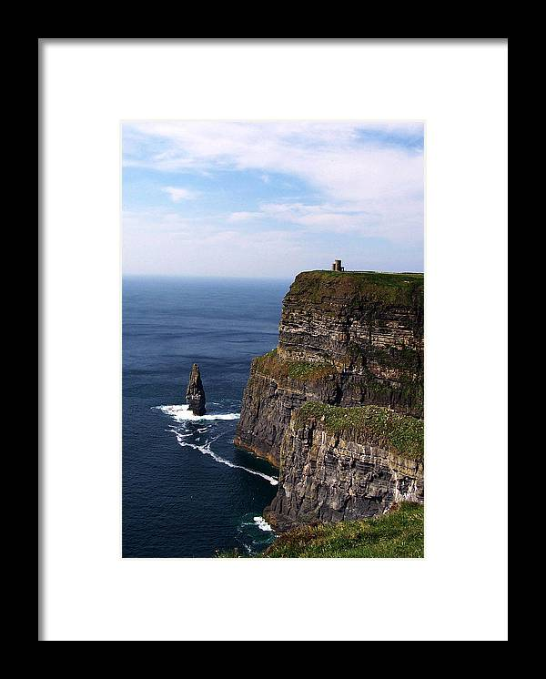 Irish Framed Print featuring the photograph Cliffs Of Moher County Clare Ireland by Teresa Mucha
