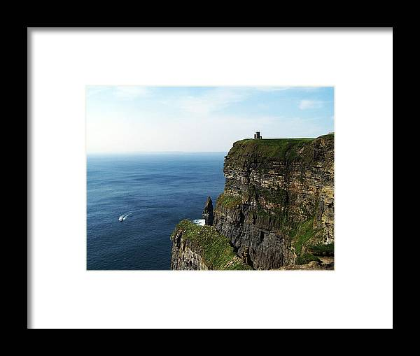 Irish Framed Print featuring the photograph Cliffs Of Moher Ireland by Teresa Mucha