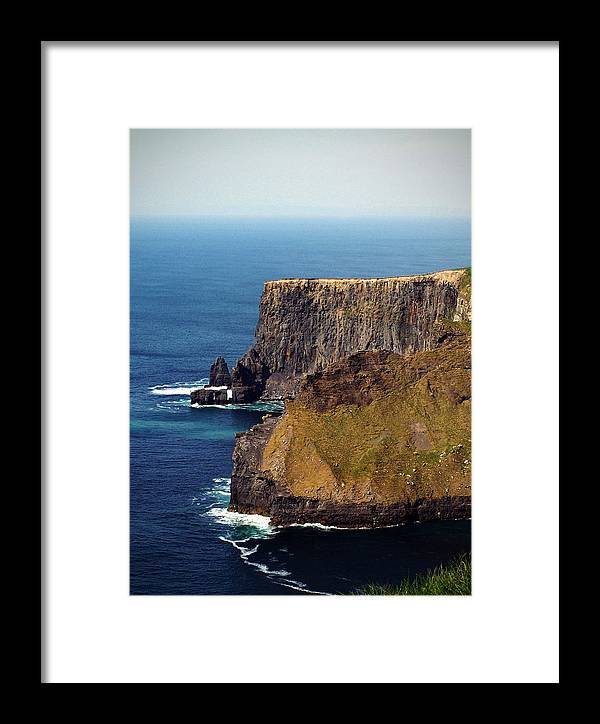 Irish Framed Print featuring the photograph Cliffs Of Moher Ireland View Of Aill Na Searrach by Teresa Mucha