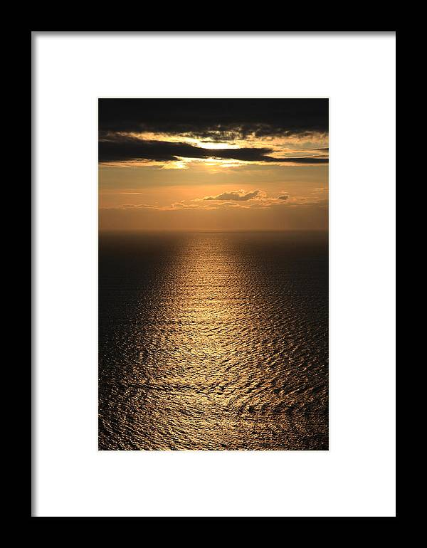 Cliffs Of Moher Framed Print featuring the photograph Cliffs Of Moher Sunset Co. Clare Ireland by Pierre Leclerc Photography