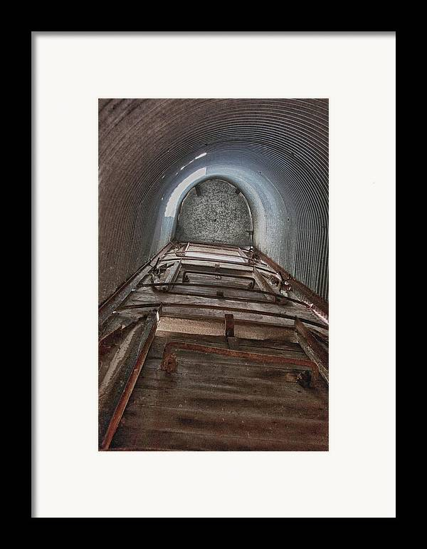 Barn Framed Print featuring the photograph Climbing The Silo by Guy Whiteley