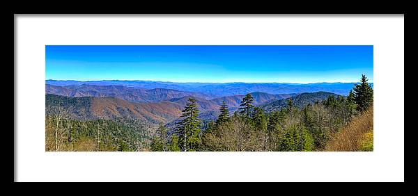 Great Smokey Mountains Framed Print featuring the photograph Clingmans Dome Panorama by Steve Samples