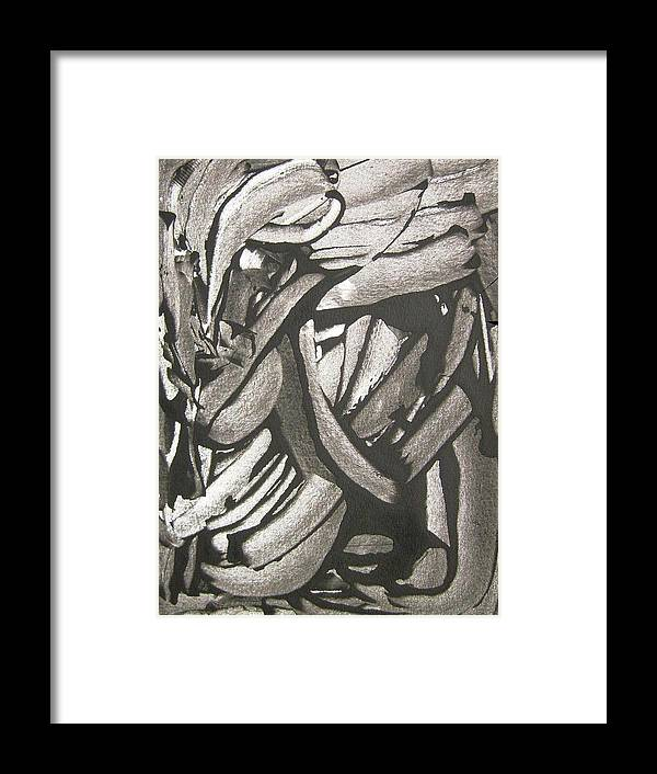 Black Framed Print featuring the painting Clinical Depression by Bruce Combs - REACH BEYOND
