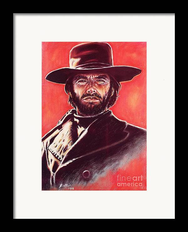 Paper Framed Print featuring the painting Clint Eastwood by Anastasis Anastasi