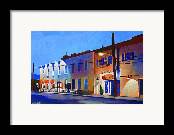 Huntington Framed Print featuring the painting Clinton Street by John Tartaglione