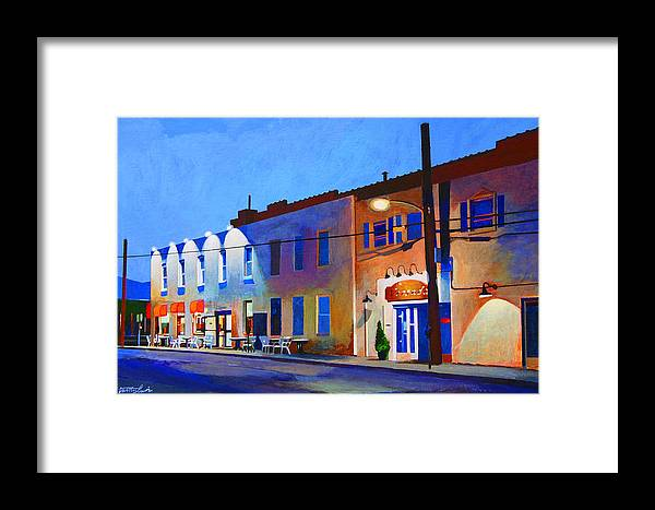 Huntington Framed Print featuring the painting Clinton Street by John Tartaglione