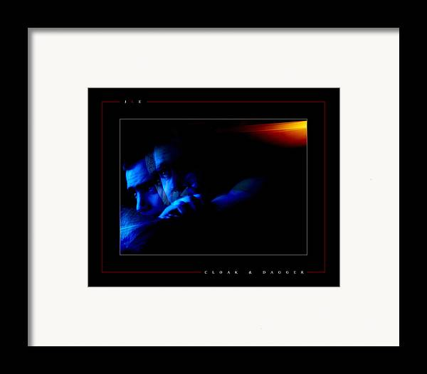 Blue Framed Print featuring the photograph Cloak And Dagger by Jonathan Ellis Keys