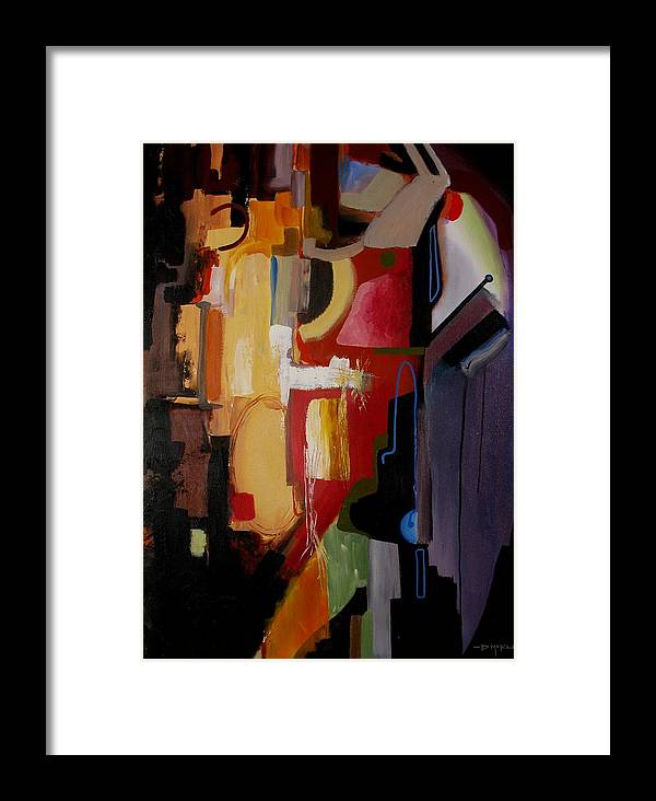 Abstract Framed Print featuring the painting Cloaked by David McKee