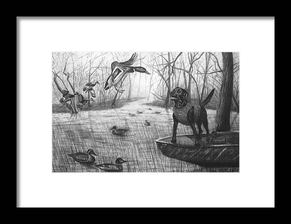 Cloaked Framed Print featuring the drawing Cloaked by Peter Piatt