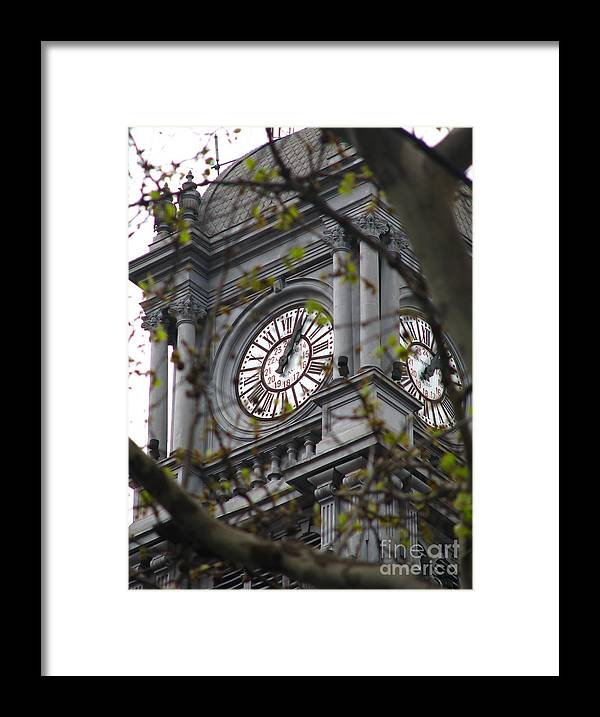 Clock Framed Print featuring the photograph Clock Tower In Buenos Aires by Jeff White