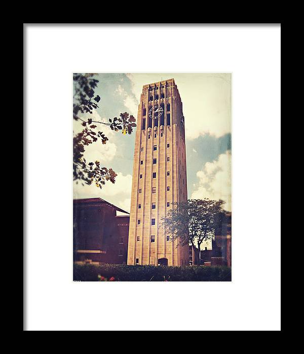 Photo Framed Print featuring the photograph Clock Tower by Phil Perkins