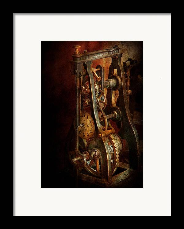 Hdr Framed Print featuring the photograph Clockmaker - Careful I Bite by Mike Savad
