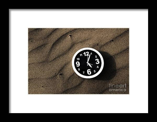 Waiting Framed Print featuring the photograph Clocks And Ripples by Jorgo Photography - Wall Art Gallery