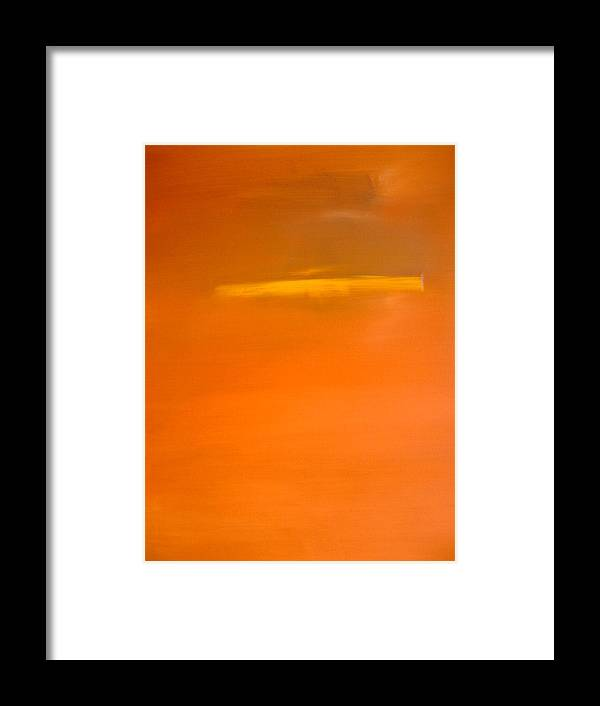 Abstract Framed Print featuring the painting Clockwork Orange by Stefan Fiedorowicz