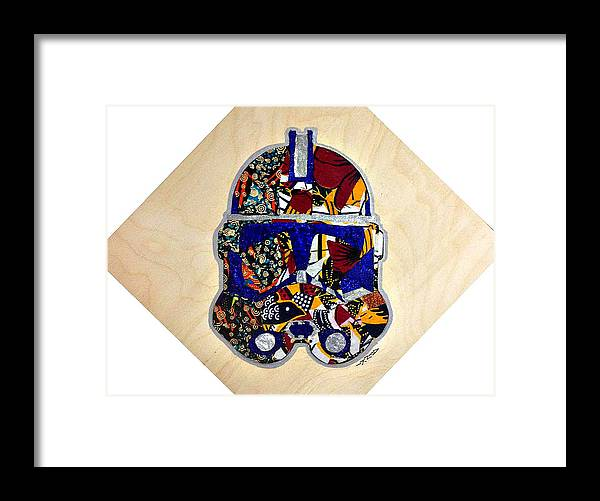 Clone Trooper Framed Print featuring the tapestry - textile Clone Trooper Star Wars Afrofuturist by Apanaki Temitayo M