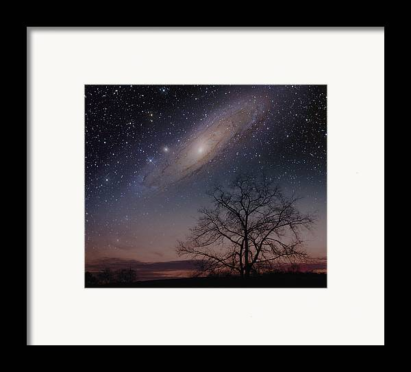 Andromeda Framed Print featuring the photograph Close Encounters - Andromeda by Charles Warren
