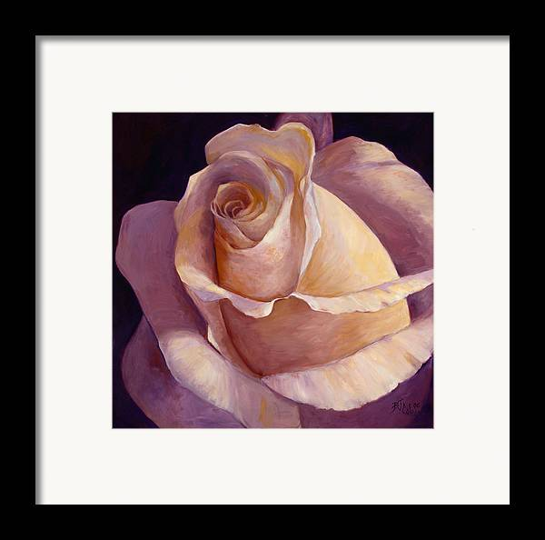 White Rose Framed Print featuring the painting Close To Perfection by Billie Colson