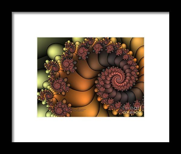 Fractal Framed Print featuring the digital art Close To The Earth by Jutta Maria Pusl