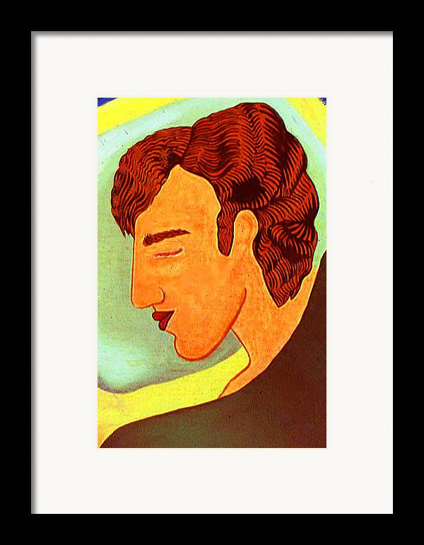 Portrait Pop Framed Print featuring the print Close Up Man Sleepng by Paul Knotter