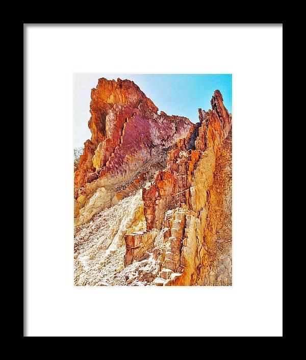 'australia Rocks' Series By Lexa Harpell Framed Print featuring the photograph Ochre Pits - West Mcdonald Ranges by Lexa Harpell