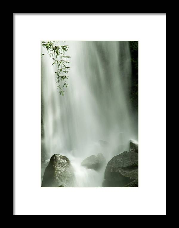 Trafalgar Falls Framed Print featuring the photograph Close View Vertical Of Trafalgar Falls by Todd Gipstein