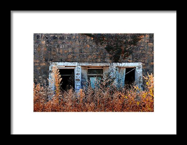 Rustic Framed Print featuring the photograph Closed 'til Spring by Lyle Huisken