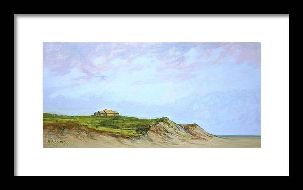 Dunes Framed Print featuring the painting Closer To The Edge by Lisa H Ridabock