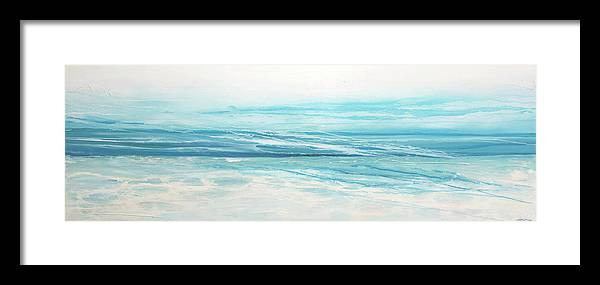 Beach Framed Print featuring the painting Closer To The Ocean by Ollie C