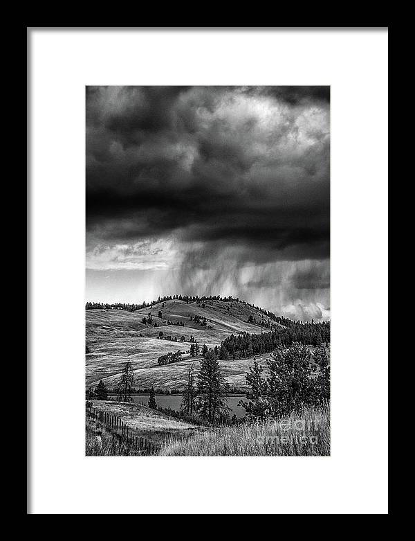 Clouds Framed Print featuring the photograph Cloud Burst by David Hillier