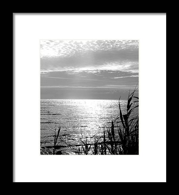 Lake Pontchartrain Framed Print featuring the photograph Cloud Circle Over Lake Pontchartrain by Heather S Huston