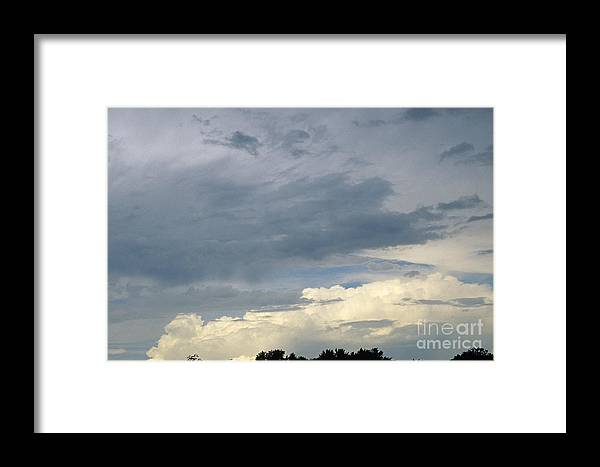 Storm Clouds Framed Print featuring the photograph Cloud Cover by Erin Paul Donovan