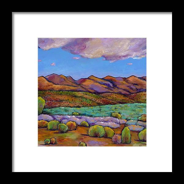 Southwest Landscape Framed Print featuring the painting Cloud Cover by Johnathan Harris