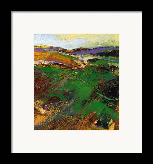 Knife Painting Framed Print featuring the painting Cloud Farm by Dale Witherow