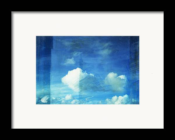 Abstract Framed Print featuring the painting Cloud Painting by Setsiri Silapasuwanchai