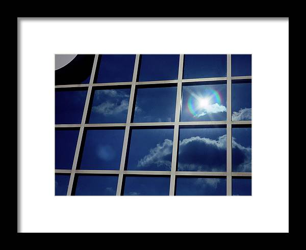 Clouds Framed Print featuring the photograph Cloud Reflection by Ken Norcross