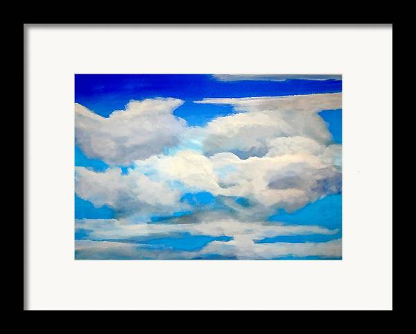 En Plein Air Framed Print featuring the painting Cloud Study by Donna Proctor