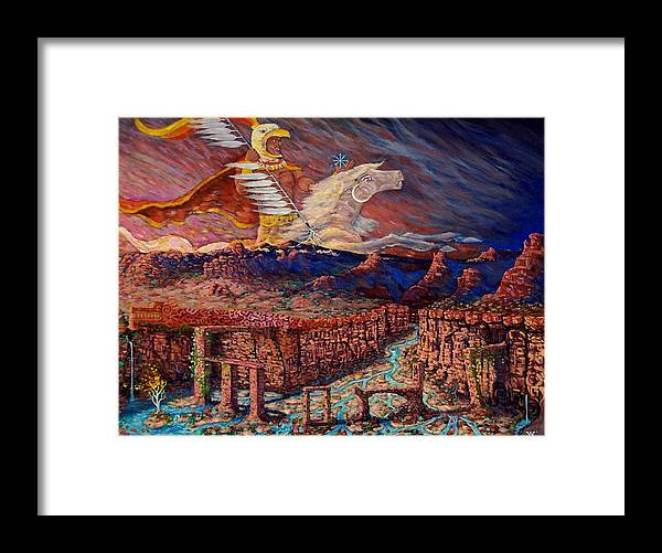 Nativeamerican Framed Print featuring the painting Cloud Warrior by William Clayton