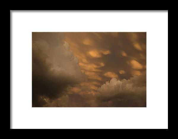 Clouds Framed Print featuring the photograph Cloud Wrath by Ralph Steinhauer