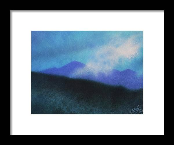 Landscape Framed Print featuring the painting Cloudline III by Robin Street-Morris