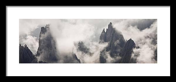 Montagna Framed Print featuring the photograph Clouds 1026 by Marco Missiaja