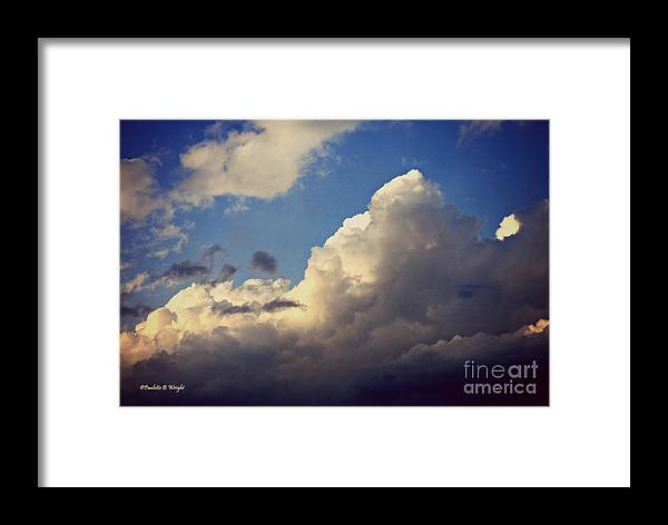 Clouds Framed Print featuring the photograph Clouds-3 by Paulette B Wright
