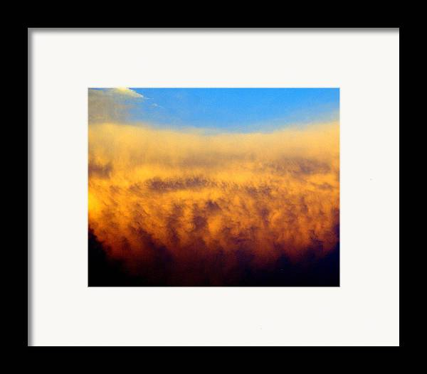 Clouds Framed Print featuring the photograph Clouds Ablaze by Marty Koch
