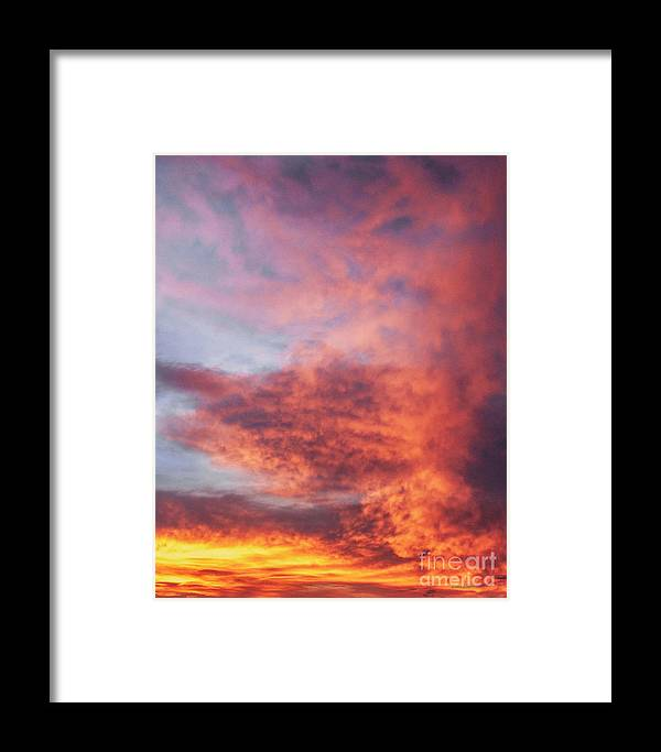 Natanson Framed Print featuring the photograph Clouds At Dawn by Steven Natanson