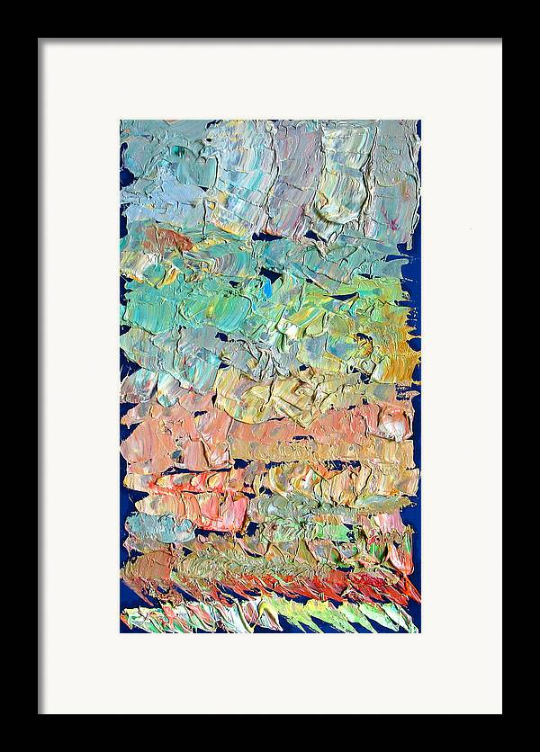 Abstract Framed Print featuring the painting Clouds. Colorful Painter Palette. Exhausted Paint And Abstract Painting. by Vitali Komarov
