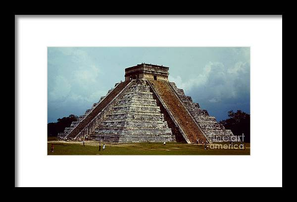 Kukulkan Framed Print featuring the photograph Clouds Crowd Kukulkan by Roy Anthony Kaelin