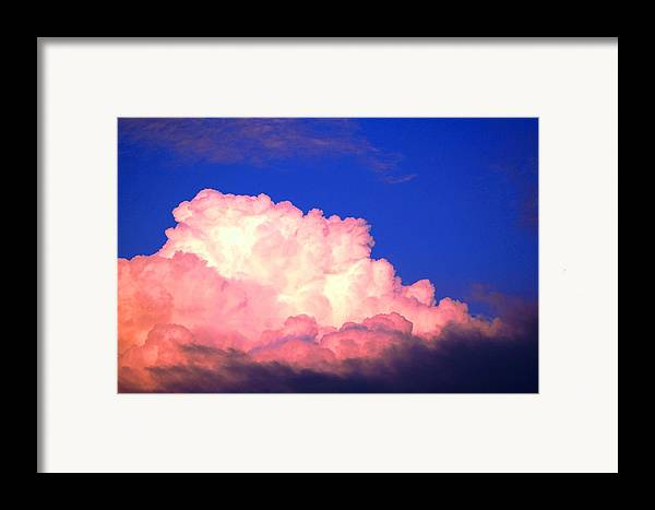 Clouds Framed Print featuring the photograph Clouds In Mystical Sky by Lisa Johnston