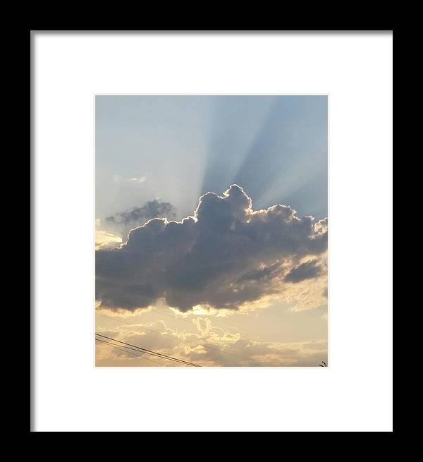 Clouds Framed Print featuring the photograph Clouds by Jessica Blair