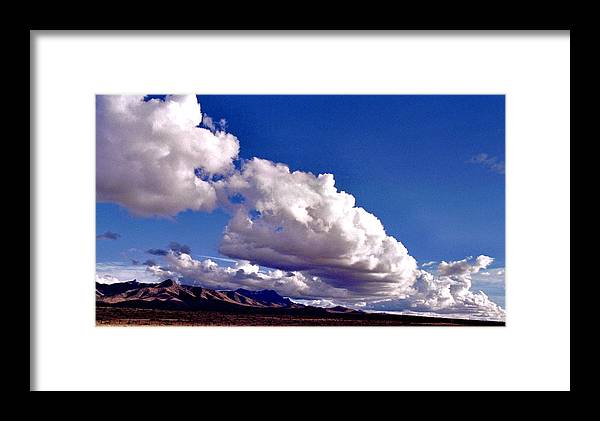 Landscape Framed Print featuring the photograph Clouds Marching by Randy Oberg