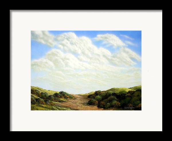 Landscape Framed Print featuring the painting Clouds Of Spring by Frank Wilson