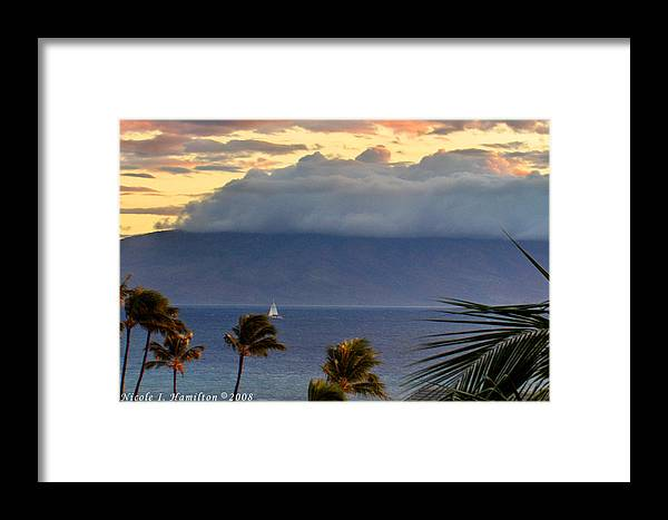 Landscape Framed Print featuring the photograph Clouds On The Mountain Top by Nicole I Hamilton